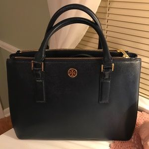 ROBINSON MINI DOUBLE ZIP TOTE IN HUDSON BAY(NAVY)